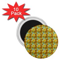 Vase With Twelve Sunflowers By Vincent Van Gogh 1889  1.75  Button Magnet (10 pack)