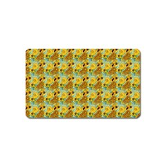 Vase With Twelve Sunflowers By Vincent Van Gogh 1889  Magnet (Name Card)