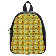 Vase With Twelve Sunflowers By Vincent Van Gogh 1889  School Bag (Small)