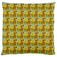 Vase With Twelve Sunflowers By Vincent Van Gogh 1889  Large Cushion Case (Two Sides)