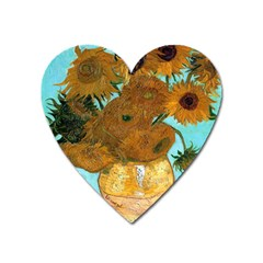Vase With Twelve Sunflowers By Vincent Van Gogh 1889  Magnet (Heart)