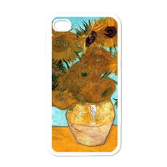 Vase With Twelve Sunflowers By Vincent Van Gogh 1889  Apple iPhone 4 Case (White)