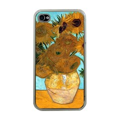 Vase With Twelve Sunflowers By Vincent Van Gogh 1889  Apple iPhone 4 Case (Clear)