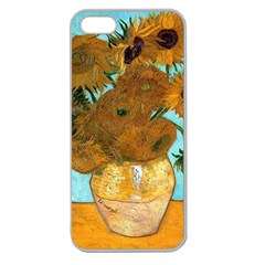 Vase With Twelve Sunflowers By Vincent Van Gogh 1889  Apple Seamless iPhone 5 Case (Clear)