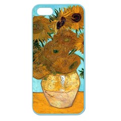 Vase With Twelve Sunflowers By Vincent Van Gogh 1889  Apple Seamless iPhone 5 Case (Color)