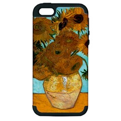Vase With Twelve Sunflowers By Vincent Van Gogh 1889  Apple iPhone 5 Hardshell Case (PC+Silicone)