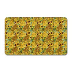 Vase With Twelve Sunflowers By Vincent Van Gogh 1889 Magnet (Rectangular)