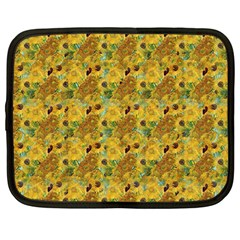 Vase With Twelve Sunflowers By Vincent Van Gogh 1889 Netbook Case (Large)