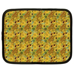 Vase With Twelve Sunflowers By Vincent Van Gogh 1889 Netbook Case (XXL)