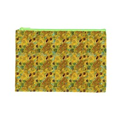 Vase With Twelve Sunflowers By Vincent Van Gogh 1889 Cosmetic Bag (Large)