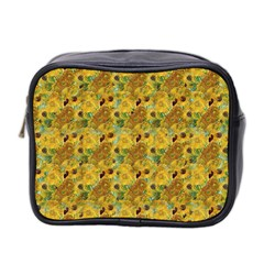 Vase With Twelve Sunflowers By Vincent Van Gogh 1889 Mini Travel Toiletry Bag (Two Sides)