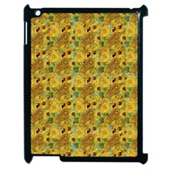 Vase With Twelve Sunflowers By Vincent Van Gogh 1889 Apple iPad 2 Case (Black)