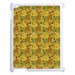 Vase With Twelve Sunflowers By Vincent Van Gogh 1889 Apple iPad 2 Case (White)
