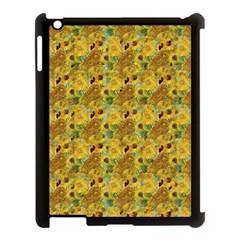 Vase With Twelve Sunflowers By Vincent Van Gogh 1889 Apple iPad 3/4 Case (Black)