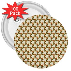 Vintage Flowers 3  Button (100 pack)