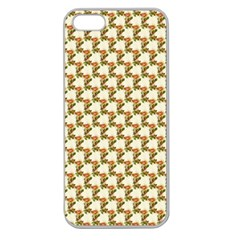Vintage Flowers Apple Seamless iPhone 5 Case (Clear)