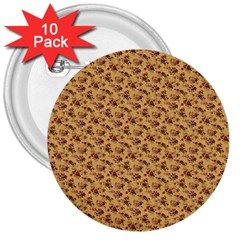 Vintage Flowers 3  Button (10 pack)