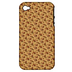 Vintage Flowers Apple iPhone 4/4S Hardshell Case (PC+Silicone)