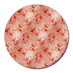 Vintage Flowers 8  Mouse Pad (Round)