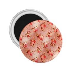Vintage Flowers 2.25  Button Magnet