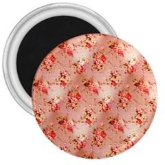 Vintage Flowers 3  Button Magnet