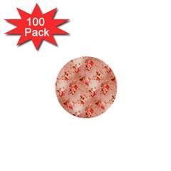Vintage Flowers 1  Mini Button (100 pack)