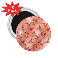 Vintage Flowers 2.25  Button Magnet (10 pack)
