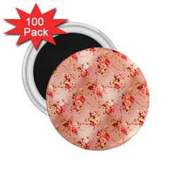 Vintage Flowers 2.25  Button Magnet (100 pack)