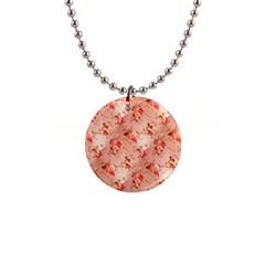 Vintage Flowers Button Necklace