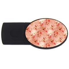 Vintage Flowers 4GB USB Flash Drive (Oval)