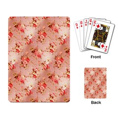 Vintage Flowers Playing Cards Single Design