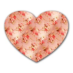 Vintage Flowers Mouse Pad (Heart)