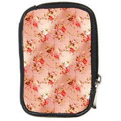Vintage Flowers Compact Camera Leather Case
