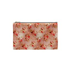 Vintage Flowers Cosmetic Bag (Small)