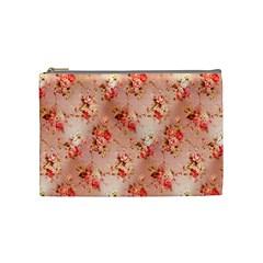 Vintage Flowers Cosmetic Bag (Medium)