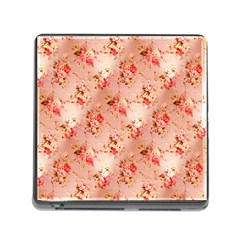 Vintage Flowers Memory Card Reader with Storage (Square)