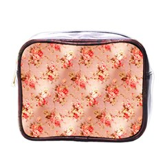 Vintage Flowers Mini Travel Toiletry Bag (One Side)