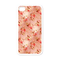 Vintage Flowers Apple iPhone 4 Case (White)