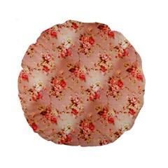 Vintage Flowers 15  Premium Round Cushion