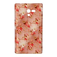 Vintage Flowers Sony Xperia ZL L35H Hardshell Case