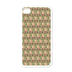 Vintage Girl Apple iPhone 4 Case (White)