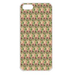 Vintage Girl Apple iPhone 5 Seamless Case (White)