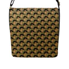 Vintage Girl Flap Closure Messenger Bag (Large)