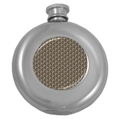 Vintage Girl Hip Flask (Round)