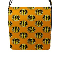 Vintage Halloween Flap Closure Messenger Bag (Large)