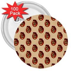 Vintage Halloween 3  Button (100 pack)