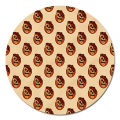 Vintage Halloween Magnet 5  (Round)