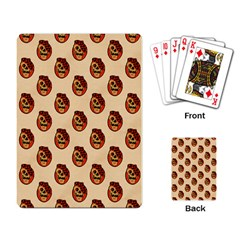 Vintage Halloween Playing Cards Single Design