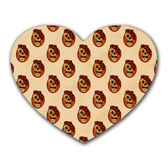 Vintage Halloween Mouse Pad (Heart)