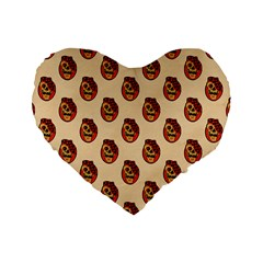 Vintage Halloween 16  Premium Heart Shape Cushion